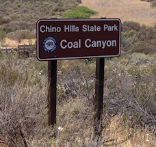 Coal Canyon State Park entrance sign