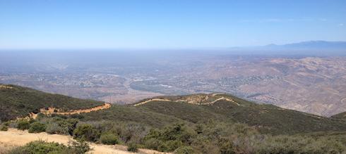 The view from Sierra peak